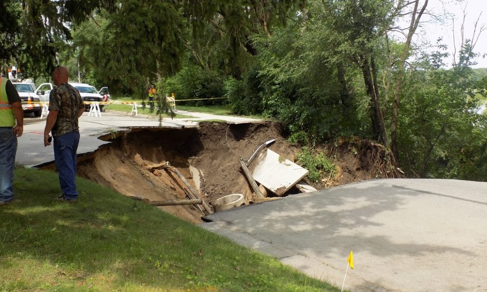 The city has also closed hiking trails and streets around the sinkhole at the corner of Park Dr. and North 23rd St. in La Crosse.