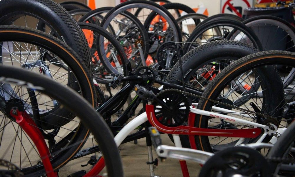 Bikes recovered last spring by UW-L police. @UWLPolice on Facebook