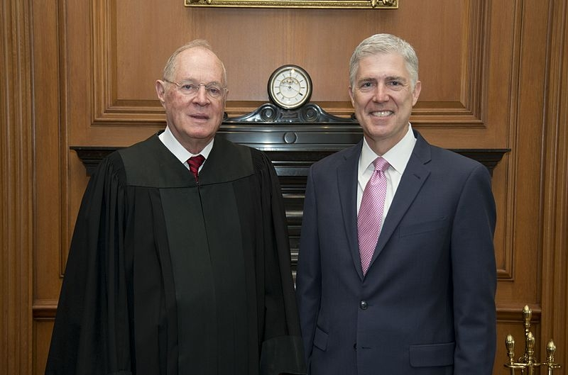 Supreme Court members Anthony Kennedy and Neil Gorsuch
